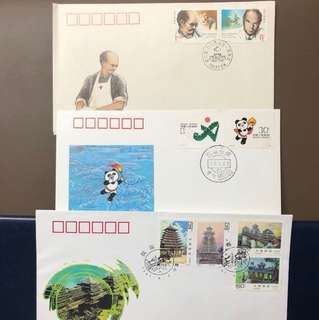 Clearing Stocks: China 3 Early First Day Covers