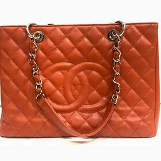 Chanel GST Red coral #16 with Paris receipt - ( bag holo card , db rep )-515