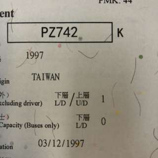 車牌 Car Plate No. - PZ742