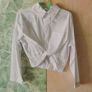 White Knotted Longsleeves