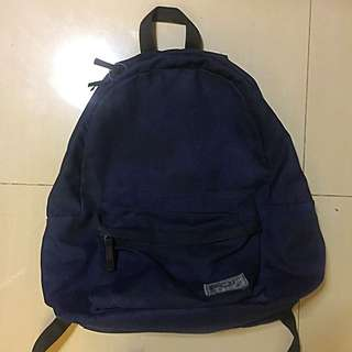 Canvas Navy Blue Backpack 🎒