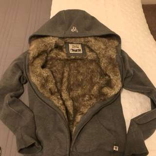 TNA Faux fur lined Sweater- Size Small