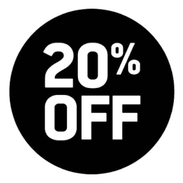 20% off all listings (not incl. postage)