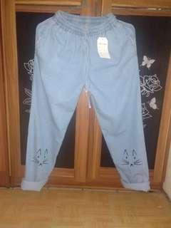 Open barter (celana baru) pengen sama jumpsuit