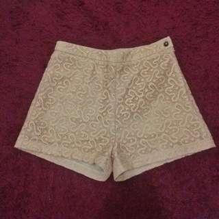 Lace Peach Shorts