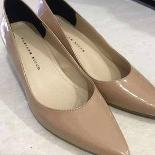 Beige-coloured heels