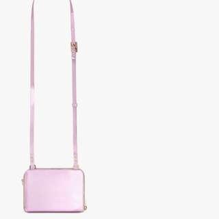 (購自英國,有單)全新Sophie Hulme Pink Albert Crossbody Bag Wallet