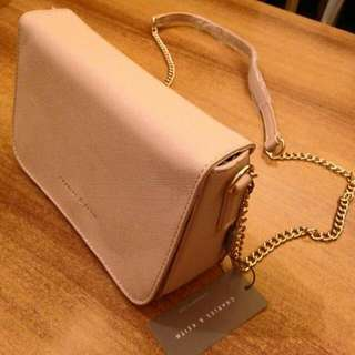 Actual photo of charles and keith sling bag
