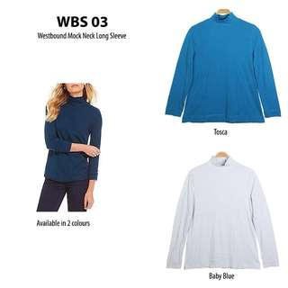 Westbound women mock neck long sleeve blouse