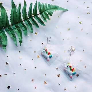 |全新|  彩虹獨角獸糖果包裝耳環耳夾-預購