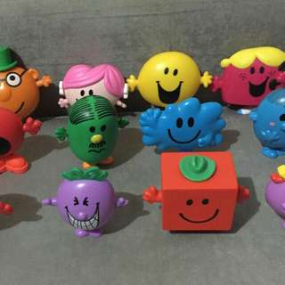 Mr. Men and Little Miss Happy Meal Toys