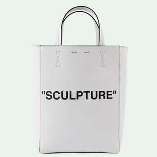 Off White White Medium Sculpture Tote