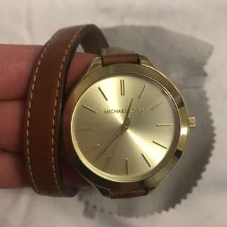 Micheal Kors leather wrap watch