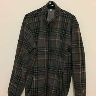 UNIQLO Grey Check Fleece (XL)