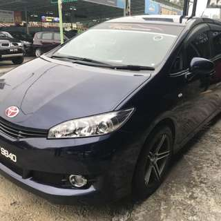 Toyota wish 1.8 New model , full loan