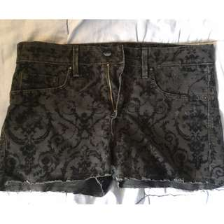 REPRICE! Black Abstract Hot Pants by H&M