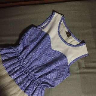 Mags blue chiffon dress