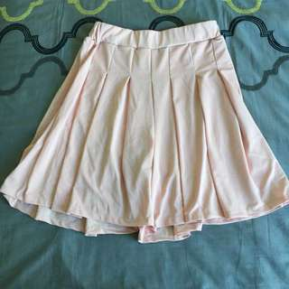 Pale Pink Pleated Skorts