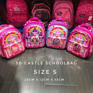 3D CASTLE SCHOOL BAG SIZE S