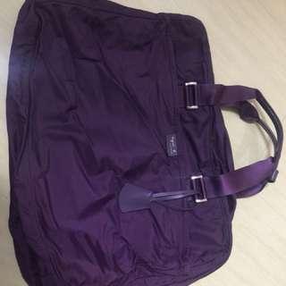 九成新 紫色 Agnes.b 單揹袋