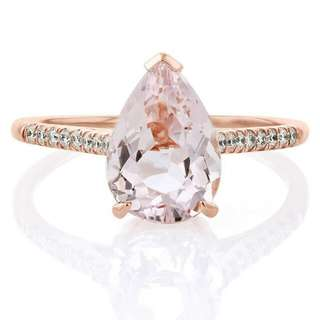 Morganite Diamond Ring 18k 真寶真鑽真金
