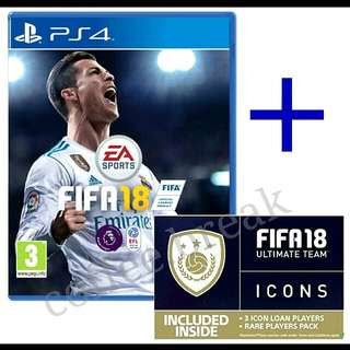 PS4 FIFA 18 + Extra Pack