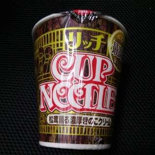 日清 松茸杯麵 (4月到期) cheese fungus cup noodles