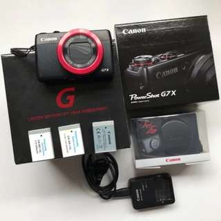Canon G7X Red Ring Limited Edition