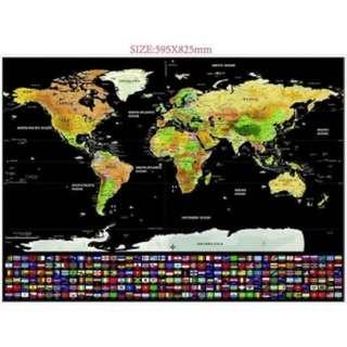 Black edition World scratch map