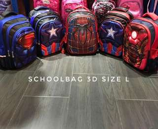 SCHOOL BAG 3D SIZE L