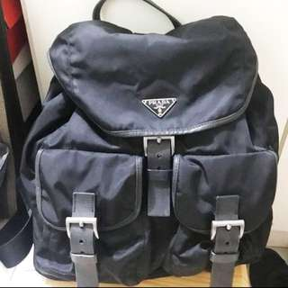 Prada vintage 黑色Backpack Large size
