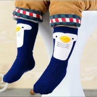 Blue penguin kid & baby socks