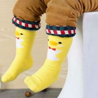 Yellow duck kid & baby socks