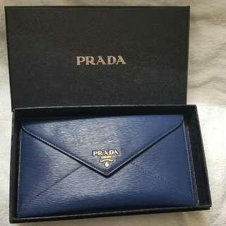 Prada Envelope Wallet (Navy)