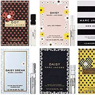 [10 for $19] MARC JACOBS EAU DE PARFUM SAMPLE VIAL SPRAY 1.2ML DOT / DAISY / DAISY DREAM / DAISY DREAM FOREVER / DAISY EAU SO FRESH