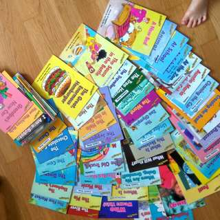 $1.50 sale reading bee. set of 40 books est. emergent series & early series@$1.50 each if u take everything. enrichment readers for PCF sparkletots nursery & kindergartens. (or $2.90 each if you pick & choose).