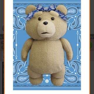 Ted plush toy with headband (53cm)