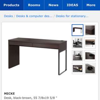Brand new ikea desk dark brown and mounted does not fit my son room.