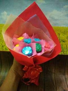 Buket bunga cokelat