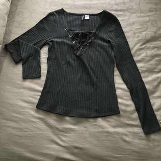 Baju atasan H&M Gray