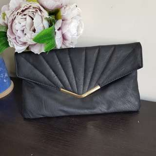 Black gold clotch purse wallet makeup organizer