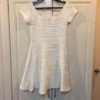 New! F21 Classic White Off Shoulder Dress (Overruns)