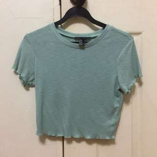Forever 21 Teal Cropped Top