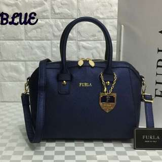 Furla Tote Bag Blue Color