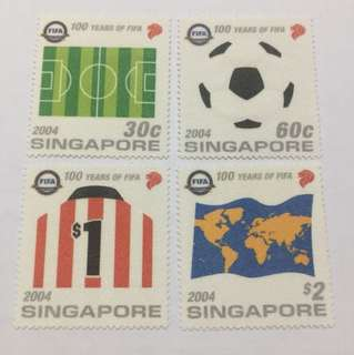 Singapore 2004 100 years of FIFA mnh