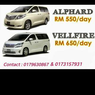 Car For Rent Alphard And Vellfire