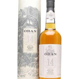 Oban 14 year Single Malt Whisky 蘇格蘭單一麥芽威士忌
