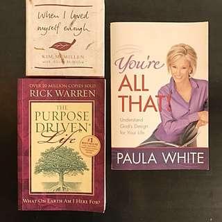Inspirational, self help books