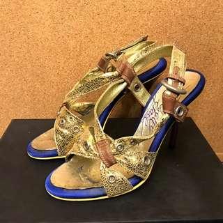 超級抵着-日本制金色高跟鞋