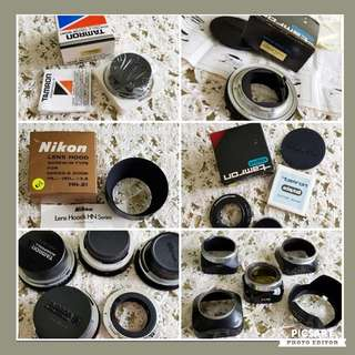 """Vintage Camera Accessories"""" Adaptall for various cameras and Lens Hood, detail below. 12 items for $100 Clearance offer, sms 96337309."""